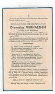 DP Dionysius VERHAEGEN Lid V D H Kindsheid Geb. Betekom 1934,gestorven 1942 - Godsdienst & Esoterisme