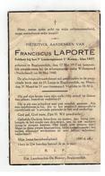 DP FRANCISCUS LAPORTE Geb. Begijnendijk 1917 Soldaat 7°Liniereg.,gestorven Scheepsramp Willemstad (Nl)1940 - Godsdienst & Esoterisme