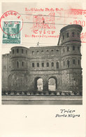 D38762 CARTE MAXIMUM CARD TRIPLE 1948 RHEINLAND-PFALZ - TRIER PORTA NIGRA CITY GATE CP ORIGINAL - Altri