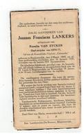 DP Joannes Franc.LANKERS Geb. Begijnendijk 1849 Oud-strijder 1870-71.echtgen. V Rosalia VAN EYCKEN,gestorven 1939 - Godsdienst & Esoterisme