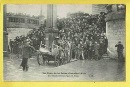 * Paris - Parijs (Dép 75 - Capital De La France) * (J.H.) Crue De La Seine, Janvier 1910, Transbordement Quai De Passy - Inondations De 1910