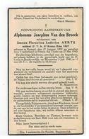 DP Alphonsus Joseph.Van Den Broeck Geb.Ramsel 1907 Soldaat 2°T A 8° Komp.,gevallen Voor T Vaderland Te Pittem 1940 - Godsdienst & Esoterisme