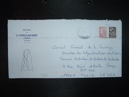 LETTRE MAIRIE LA CHAPELLE AUX SAINTS 19120 (PREHISTOIRE) TP M. DE BEAUJARD 0,90 + LAMOUCHE 0,05 OBL.MEC.24.07.10 - Storia Postale