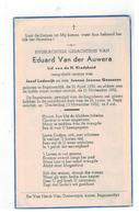 DP Eduard Van Der Auwera Geb.Begijnendijk 1952,zoontje V Jozef Lodewijk En Ivonne Joan.Goossens Gestorven  1952 - Godsdienst & Esoterisme