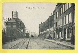 * Longwy Bas (Dép 54 - Meurthe Et Moselle) * (Picard Frères Bazar) Rue De Metz, Café De L'industrie, Tram, Vicinal - Longwy