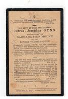 DP Petrus-Josephus GYNS Geb.Vossem 1828,wedn. V BARBARA HENDRICKX En LOUISA VANMEERBEEK Gestorven Leefdaal 1904 - Religion &  Esoterik