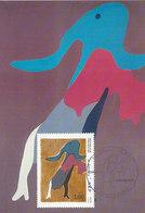D38769 CARTE MAXIMUM CARD TRIPLE 1986 FRANCE - DANCER BY JEAN ARP CP ORIGINAL - Modern