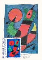 D38770 CARTE MAXIMUM CARD FD 1974 FRANCE - BY JOAN MIRO CP ORIGINAL - Modern