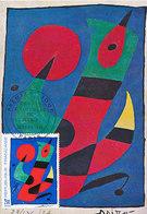D38771 CARTE MAXIMUM CARD FD 1974 FRANCE - BY JOAN MIRO CP ORIGINAL - Modern
