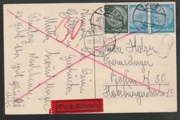 Deutsches Reich / 1940 / Karte (AK) Per Express Stegstempel Wien (5531) - Deutschland