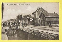 * Longueil Annel (Dép 60 - Oise - France) * Les écluses Vue D'Aval, Canal, Quai, Animée, Rare, Unique, TOP - Longueil Annel