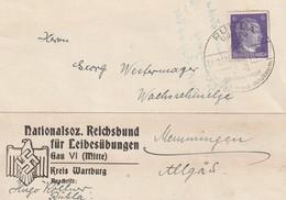 Deutsches Reich / 1943 / Karte Stempel Ruhla, Abs. Nationalsoz. Reichsbund Fuer Leibesuebingen (5533) - Germany