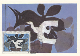 D38773 CARTE MAXIMUM CARD 1962 FRANCE - BY G. BRAQUE SALON DU TIMBRE CP ORIGINAL - Modern