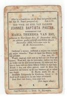 DP JOANNES BAPTISTA PASTYN Geb.Turnhout 1855 Echtgen. V Maria Theresia VAN EST Gestorven 1899 - Religion &  Esoterik