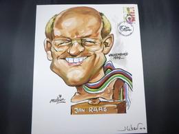 """BELG.2006 3515 FDC Feuillet (A4) : """" A.jan Raas  / B. Freddy Maertens """"  , Signé Jean Libert (disigner) - FDC"""