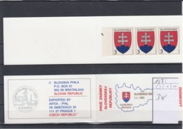 Slowakische Republik Michel Cat.No.    Mnh/** Booklet 163 Two Diff - Slowakische Republik