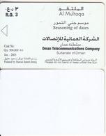 OMAN(chip) - Seasoning Of Dates(puzzle 4/6), Error(reverse Not Printed), 01/03, Sample(no Chip, No CN) - Oman