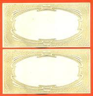 Lot De 2 Menus ? Ou Cartes D'invitations Anciens En Relief Vierge - Menus