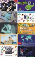 LOTTO DI  N° 10 SCHEDE PREPAGATE & RICARICHE VARIE - Schede GSM, Prepagate & Ricariche
