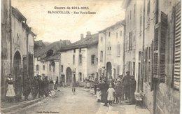 Carte  POSTALE   Ancienne De BADONVILLER - Rue Notre Dame - Autres Communes