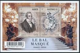 France - Opéra Le Bal Masqué / Le Feuillet YT F4706 Obl. Cachet Rond Manuel - Blocs & Feuillets