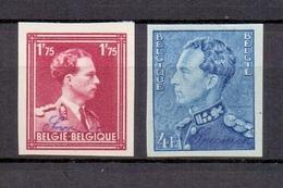 832/833 KONING LEOPOLD III ONGETAND POSTFRIS** 1950 Cat:70 Euro - Belgique