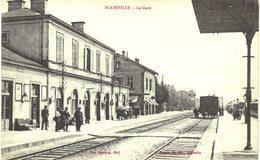 Carte  POSTALE   Ancienne De BLAINVILLE - La Gare - Autres Communes