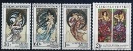 1969 Czechoslovakia MNH - Mi 1884-1887 ** MNH - Mucha - ART-Painting - Tschechoslowakei/CSSR