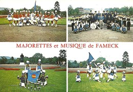 57 - FAMECK - CARTE POSTALE DES MAJORETTES - Musique Et Musiciens