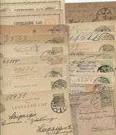 Kl. Lot GS Ungarn 1874-1917, Gestpl., Dab.interess.Stpl. - Postal Stationery