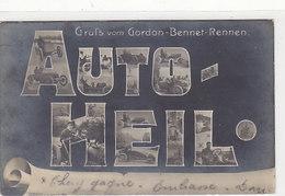 Gruss Vom Gordon-Bennett-Rennen - Auto-Heil - Int. Fotomontage - 1904 - Top        (A-162-190822) - Ansichtskarten