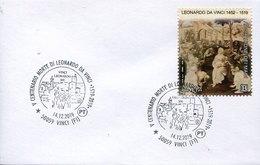 50748 Italia,  Special Postmark 2019 Empoli, 500th Anniversary Death Of Leonardo Da Vinci - Arte