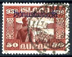 Islandia Servicio 54 Usado. Cat.175€ - Oficiales