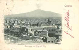 ITALIE CATANIA PANORAMA CARTE PRECURSEUR - Catania