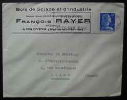 Provins 1957 François Rayer Bois De Sciage Et D'industrie. - Marcophilie (Lettres)