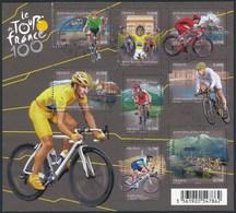 France - Centenaire Du Tour De France / Le Feuillet YT F4755 Obl. Cachet Rond Manuel - Oblitérés