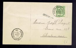 CP Fantaisie De Griffe D'origine Lodelinsart / Ambulant Arlon-Bruxelles 2 23 Mars 1908 => Charleroi-Nord - Ambulantes