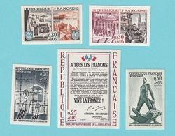 1964, YT No. 1407/1411, MNH - France