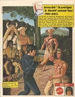COUPURE De PRESSE PUB - PUBLICITÉ BIG JIM MATTEL KARATÉ INDIEN GÉRONIMO COW BOY - BICEPS GONFLANTS - ILLUSTRATEUR MEZZO - Autres Collections
