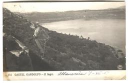 Cartolina Foto Andata 1907 Castel Gandolfo Panorama Lago E Stazione - Other Cities