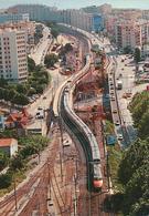 Nice (06) Gare De Saint Augustin. Pont Provisoire De L'Arenas - 19/06/1991 - Transport (rail) - Station