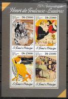 ST THOMAS ET PRINCE  Feuillet  N° 4374/77 * * ( Cote 15e )  Tableaux Toulouse Lautrec - Kunst