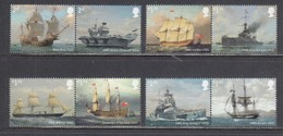 Great Britain 2019 - Royal Navy Ships, Set Of 8 Stamps, MNH** - 1952-.... (Elizabeth II)