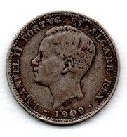 Portugal  - 200 Reis 1909 -  Km 549 - état  TB+ - Portugal