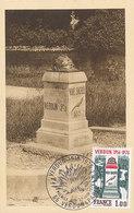 D38780 CARTE MAXIMUM CARD FD 1976 FRANCE - WW I MONUMENT VERDUN 1916-1976 - VOIE SACRÉE CP VINTAGE ORIGINAL - Monumenten