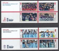 Great Britain 2019 - SPORT: CRICKET WORLD CUP WINNERS, 2 S/sh, MNH** - 1952-.... (Elizabeth II)