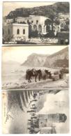 CAPRI 3 Cartoline Animate Pzza Municipale Barca E Asini + Hotel PAGANO 1907 - Autres Villes