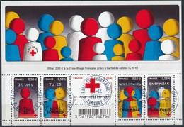 France - Croix-Rouge 2013 / Le Feuillet YT F4819 Obl. Cachet Rond Manuel - Blocs & Feuillets