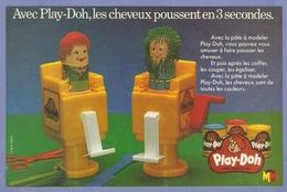 COUPURE De PRESSE PUB - PUBLICITÉ PLAY DOH LES CHEVEUX POUSSENT En 3 SECONDES - FIGURINE ( PLAYMOBIL ?) - Playmobil