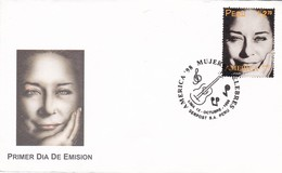 CHABUCA GRANADA. MUJERES CELEBRES. FAMEUS WOMEN, FEMMES. PERU 1988 FDC SOBRE PRIMER DIA DE EMISION  -LILHU - Mujeres Famosas
